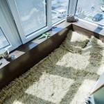 Спальня на балконе в морском стиле