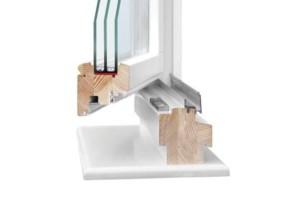 Комбинированные окна для деревянных домов