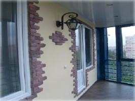 Штукатурка на балконе