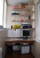 Фото лоджии, переоборудованной в рабочий кабинет