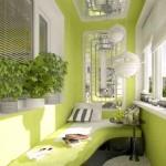 Зеленая спальня-балкон