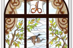 Витражное окно от студии АртХаус