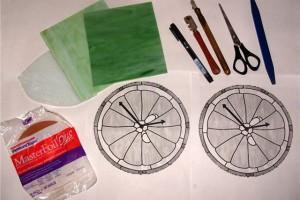 Инструменты для изготовления витражей Тиффани
