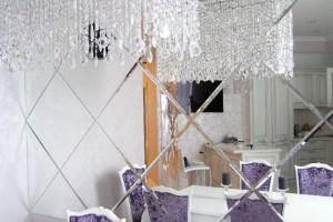 Особенности монтажа зеркальной плитки
