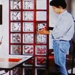 Монтаж стеклоблоков в деревянный каркас