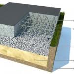 Безопалубочная заливка плитового фундамента