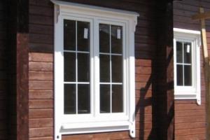 Полиуретановые окна гармонируют с любой отделкой здания.