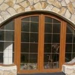 Арочные деревянные окна - дизайн