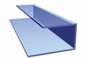 U-образный профиль из алюминия