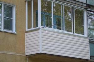 Балкон, остекленный алюминиевым профилем
