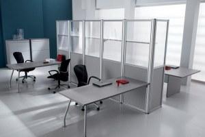 Стеклянная офисная перегородка на основе алюминиевого профиля