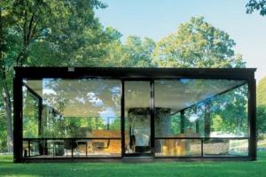 Полностью стеклянный дом