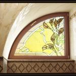 Мансардное окно с витражом