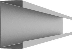 С-образный алюминиевый профиль