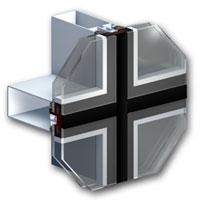Профиль для фасадного остекления MB-SR 50 Efekt