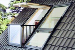 Мансардное окно-балкон Cabrio от Velux