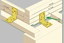 Крепежные кронштейны привёртываются к оконной коробке и стропилам