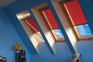 Шторы на мансардных окнах Fakro
