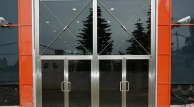 Применение входных дверей со стеклом