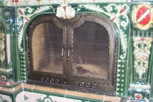 Каминные двери со стеклом