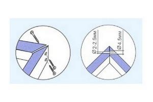 Стороны коробки обрезают под углом в 45 градусов, и под таким же углом их скрепляют шурупами