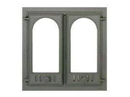 Дверь для камина со стеклом