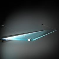 Подсветка матовой стеклянной полки