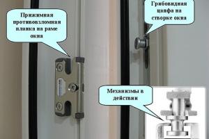 Окно с противовзломной фурнитурой