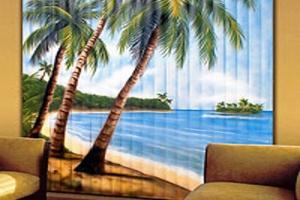 Фотожалюзи с изображерием тропического острова