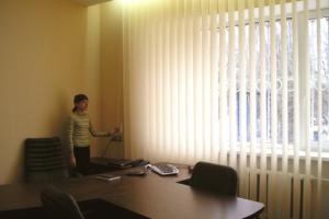 Регулировка света при помощи вертикальных жалюзи