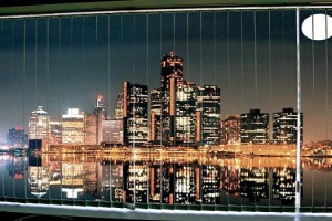Фотожалюзи с рисунком ночного города