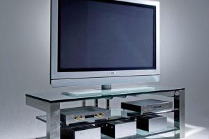 Полки из стекла и металла под телевизор