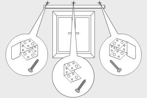 Разметка крепления и монтаж крепежных элементов
