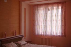 Жалюзи с тюлем в спальне