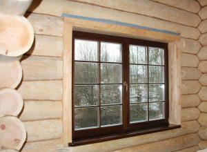 Откосы на окна в деревянном доме