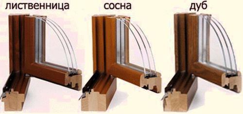 Стеклопакеты в деревянных рамах