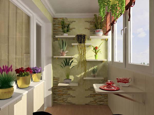 Красивое оформление интерьера балкона своими руками