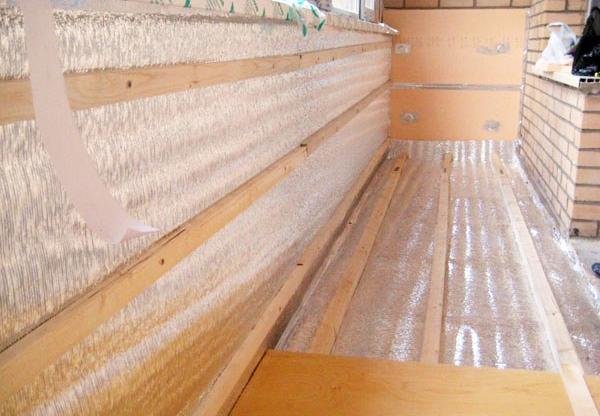 Утепление и гидроизоляция балкона