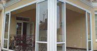 Алюминиевые раздвижные двери для веранды