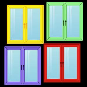 Цветные пластиковые окна