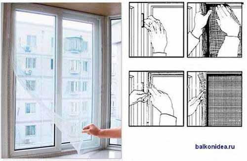 Сетка на окна на липучке