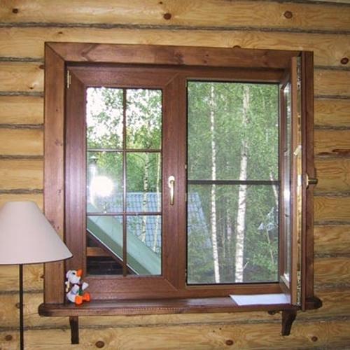 Обналичка пластиковых окон в деревянном доме