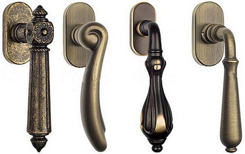 Оконные ручки для деревянных окон