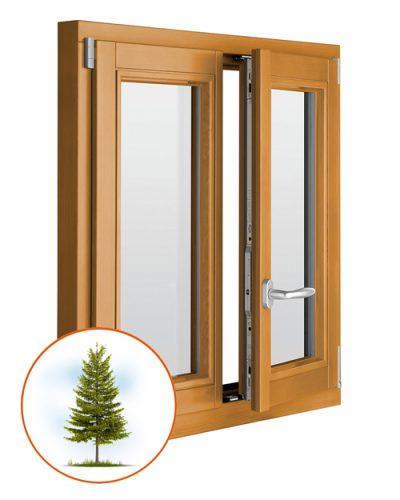 Деревянные окна со стеклопакетом из лиственницы