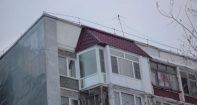 Ремонт козырька балкона на последнем этаже