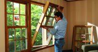 Деревянные окна установить