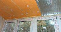 Утепление потолка на балконе пеноплексом
