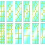 Эскизы пластиковых окон с фальшпереплетом