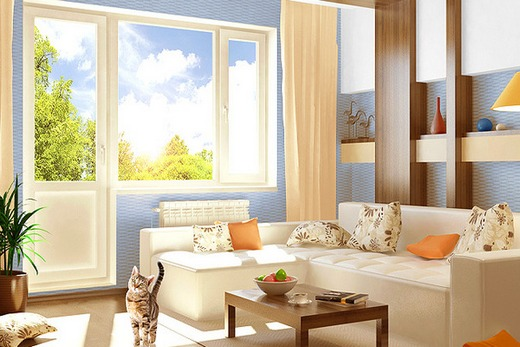 Энергосберегающие пластиковые окна в интерьере дома