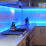 Кухонный фартук из каленого стекла